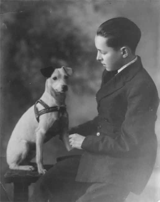 percy williams with dog