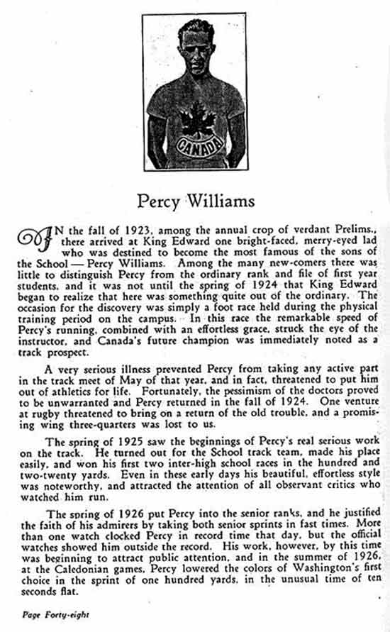 emslie yeo percy williams coach